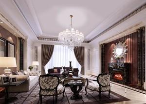 精致大方的现代欧式客厅设计装修效果图
