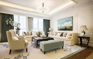 120平米奢华简欧风格精致样板房装修效果图赏析