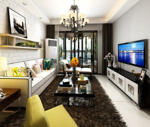 2016年全新款小资们钟爱的时尚混搭客厅装修效果图