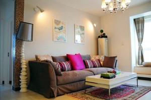 小户型现代风格时尚混搭客厅装修效果图赏析
