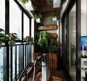 5平米阳台花架装修效果图赏析