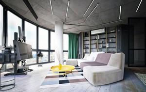 120平米简约时尚温馨loft风格公寓装修效果图
