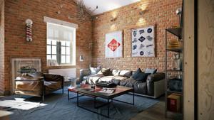 45平米现代简约风格充满艺术气息公寓装修效果图