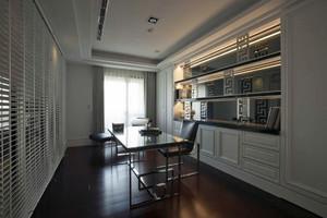 现代风格简约时尚别墅型室内大书房装修效果图