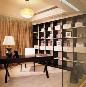 新中式风格大户型精致室内书房装修实景图