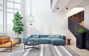 120平米现代简约风格清新舒适公寓装修实景图赏析