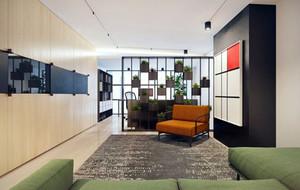 80平米都市简约时尚创意两室一厅装修效果图赏析