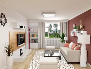 2016三居室欧式客厅隔断设计装修效果图