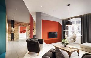 120平米时尚多彩别致精致公寓装修效果图