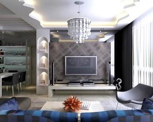 小户型客厅电视背景墙装修效果图实例