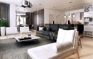 110平米后现代风格精致简约精品公寓样装修效果图鉴赏