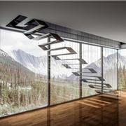 后现代风格别墅型精致时尚创意楼梯设计效果图