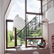 极简主义风格别墅型楼梯设计效果图