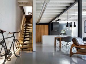 70平米现代loft风格简约时尚公寓楼梯装修效果图