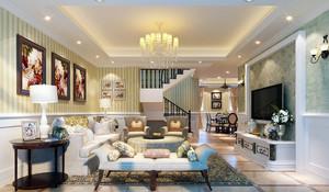 200平米欧式田园风格精致室内客厅装修效果图
