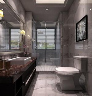 2016时尚大户型欧式卫生间吊顶装修效果图
