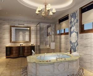 欧式别墅卫生间室内设计装修效果图