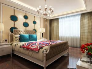 大户型现代美式风格精致室内卧室装修效果图