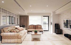 美式风格精致三居室设计装修实景图
