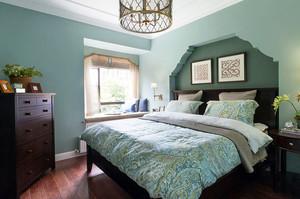 90平米美式田园风格主卧室装修效果图赏析