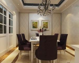 别墅型现代欧式餐厅室内装修效果图欣赏