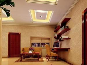 小户型现代精美书房设计装修效果图实例