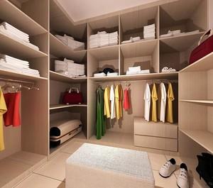 三居室欧式室内衣帽间设计装修效果图