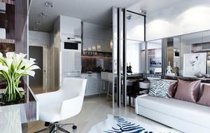 50平米都市清新风格时尚小公寓装修实景图赏析