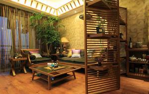 110平米东南亚风格精致客厅隔断装修效果图