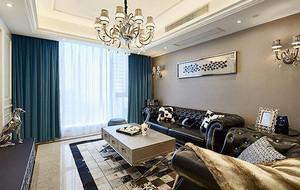 现代美式风格精致三居室装修效果图赏析