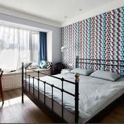 都市风格大户型精致室内卧室飘窗装修效果图