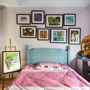 现代风格大户型儿童房背景墙装修效果图赏析