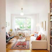 60平米都市小清新风格室内小客厅装修效果图