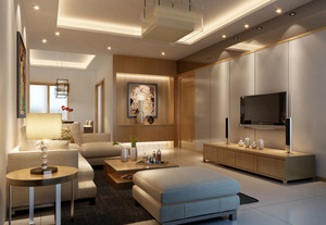2016年全新款现代简约风格精致客厅装修效果图赏析