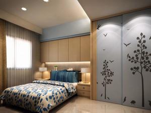 90平米宜家时尚温馨舒适卧室装修效果图
