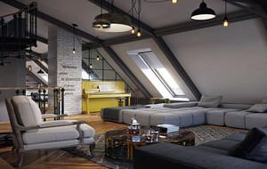 60平米精致阁楼公寓装修实景图赏析