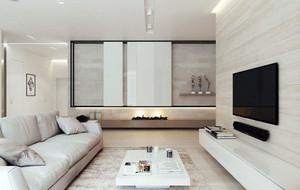 110平米现代简约风格温馨舒适开放式客厅装修效果图