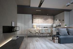 120平米现代风格精致雅致公寓装修效果图赏析