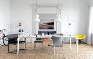 北欧风格极简主义风格80平米室内餐厅装修效果图
