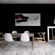 60平米北欧风格简约时尚创意餐厅装修实景图