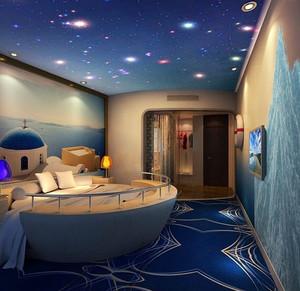三居室时尚创意充满童趣儿童房设计实景图