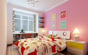 粉色王国简约风格大户型可爱女生儿童房装修效果图