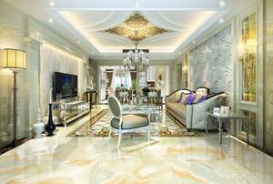 200平米别墅豪华高贵欧式风格客厅整体设计效果图