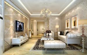 大户型精致典雅时尚欧式风格客厅吊顶装修效果图