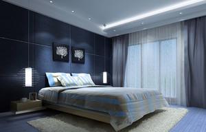 三居室现代简约风格室内卧室装修效果图