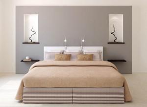 现代简约风格两居室室内卧室装修效果图