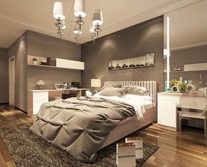 90平米大户型卧室背景墙室内设计装修效果图