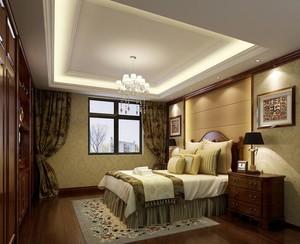 三居室欧式卧室吊顶室内装修效果图实例