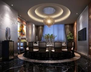 别墅型精致的欧式餐厅吊顶装修效果图实例