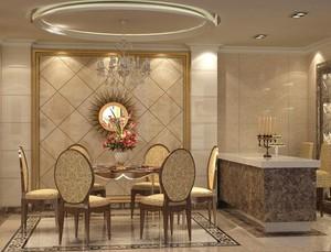 小户型欧式餐厅室内吊顶设计装修效果图实例